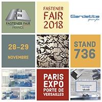 Gardette estará presente en el salón Fastener Fair